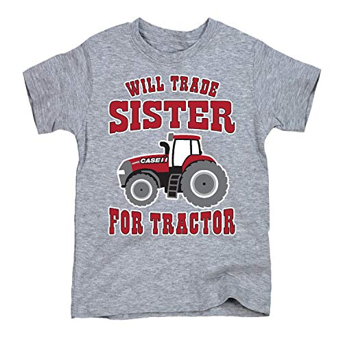 Will Trade Sister for Tractor - CASE IH Toddler Short Sleeve Tee Athletic Heather
