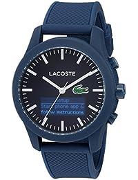Men's '12.12-Tech' Quartz Plastic and Rubber Smart Watch, Color Blue (Model: 2010882)