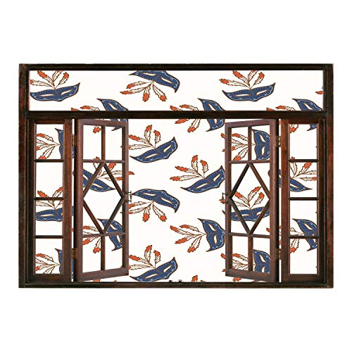 SCOCICI Window Frame Style Home Decor Art Removable