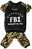 SMALLLEE_LUCKY_STORE Pet FBI Four Legs Cotton Padded Coat, XX-Large For Sale