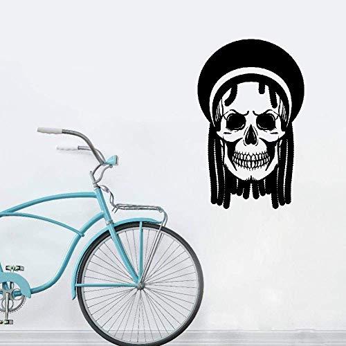 Tenriy Wall Quotes Decal Wall Stickers Art Decor Skull Dreadlocks Rastafarian Hippie ()