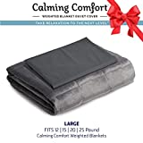 "overstock duvet cover  by Sharper Image Weighted Blanket Duvet Cover | Large- Grey, Fits 15, 20, 25 lb Blanket 50"" x 75"""