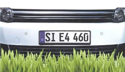 Set de 2 corto placa soporte de la matrí cula Soporte Marco de placa de licencia Utsch AG