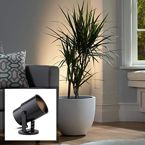 Black Accent Light - Black Cord-n-Plug Accent Uplight with Foot Switch - Pro Track