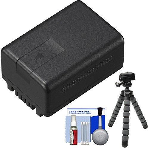 Panasonic VW-VBT190 Rechargeable Battery with Flex Tripod + Cleaning Kit for V110, V210, V510, V520, V550, V710 & V720 Camcorders (Panasonic V720 compare prices)