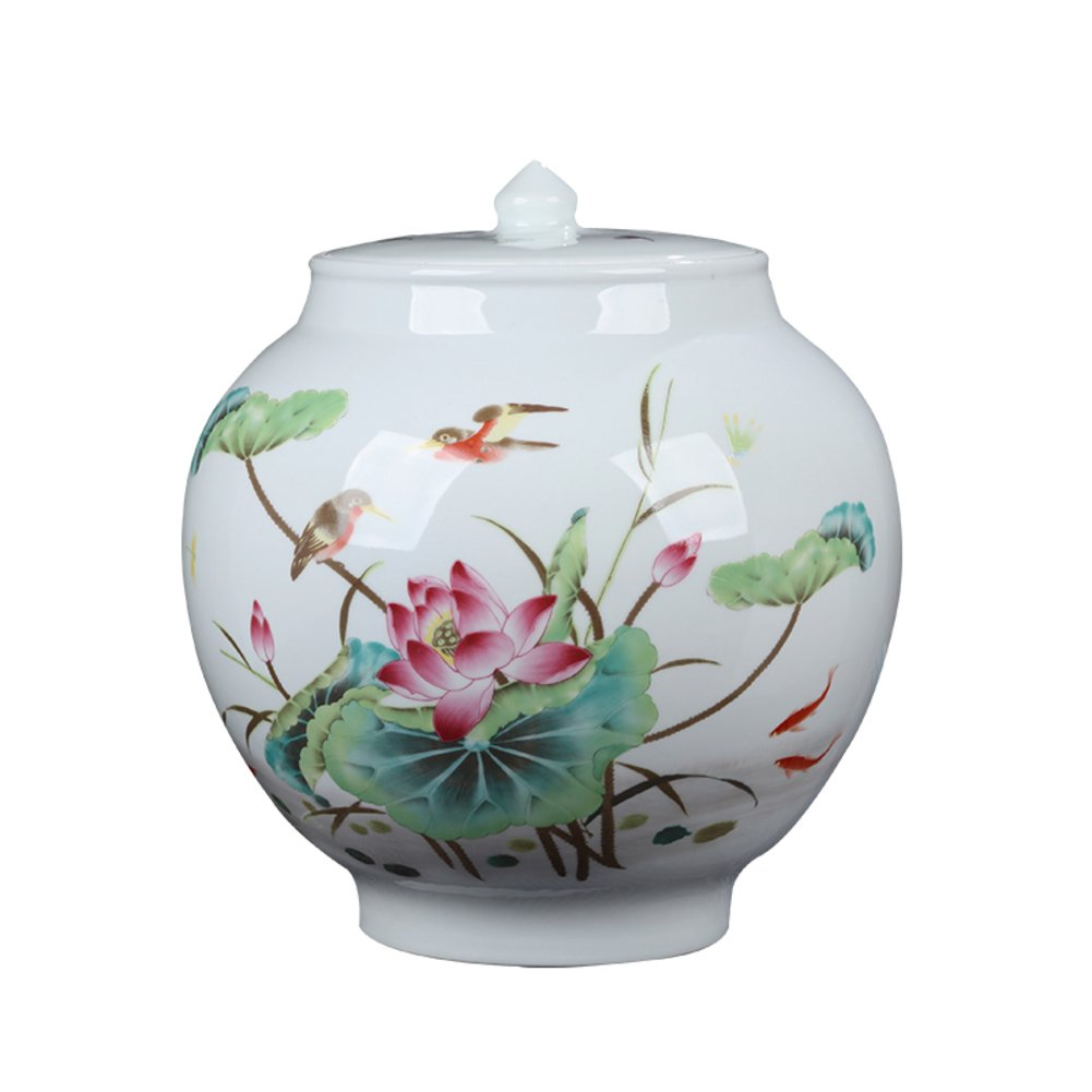 Tea Storage Chests Ceramic Container,Tea Jar,Tea Box,Candy Cans Ceramic Tea Pot