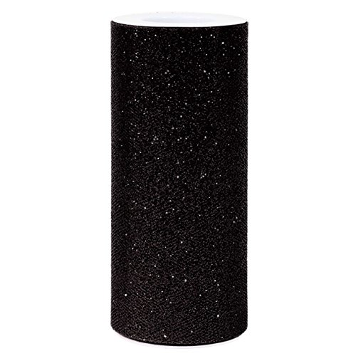 (Gift Expressions Blue Glitter Tulle Rolls for party and craft, 6-inch x 25 yard -)