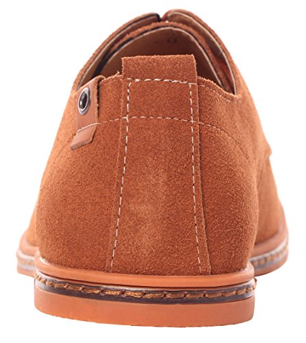 Serene Mens Casual Classic Suede Leather Lace Up Soft Breathable Fashion Oxfords Tan bEzPUwP