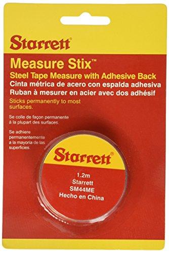 Starrett SM44ME-MX Cinta Autoadherible 1/2' X 1.2m/4ft, Blanco