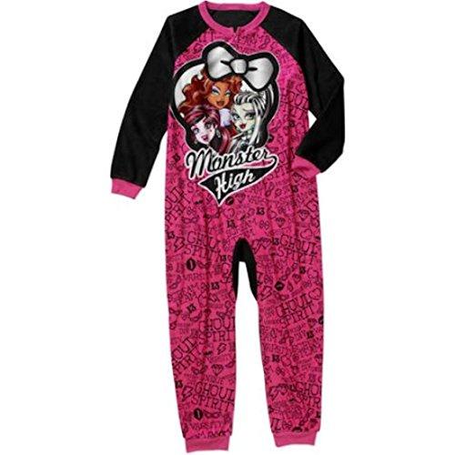 Monster High Girls One Piece Pajamas Sleeper (X-Small 4/5)]()