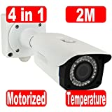 GW Security 2MP HDCVI/TVI/AHD/960H 4-In-1 1/3'' Panasonic CMOS 4X Optical Motorized Zoom Auto-Zoom & Auto-Focus Built in Temperature & Humidity Inductor Waterproof 1080P Security Camera