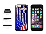 Greece And USA Mixed Flag TPU RUBBER Phone Case Back Cover Apple iPhone 6 6s (4.7 inches screen) includes BleuReign(TM) Cloth and Warranty Label