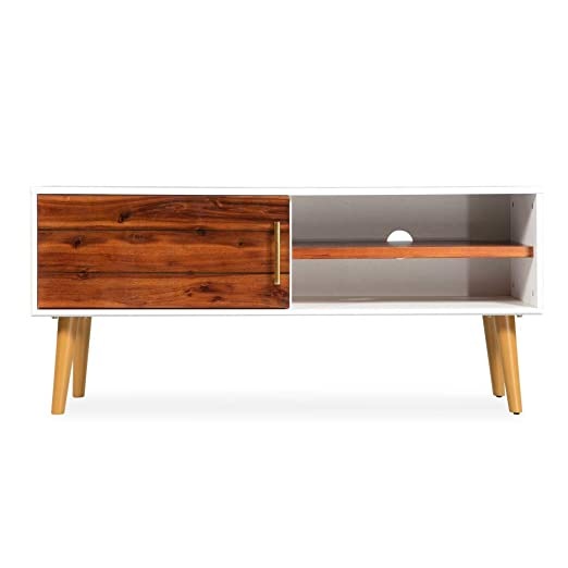 tidyard Mueble de TV de Elegante y Práctico con 1 Puerta y 2 ...