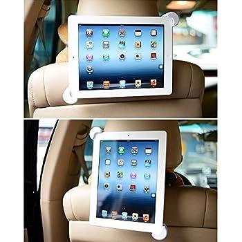 BESTEK Car Headrest Mount Tablet Holder for iPad 2017/2/3/4/iPad Air/2/iPad Mini 1/2/3/4/iPad Pro 9.7 and other 7-10 inch Tablets, 360 Degree Rotation