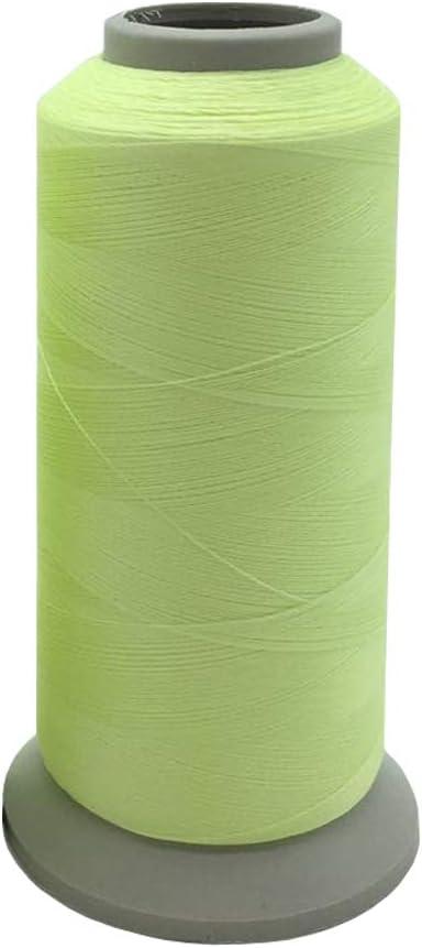 YEHAM 3000Yards//2700M Glow in The Dark Embroidery Thread Green