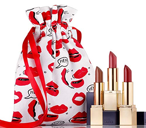 Estee Lauder Sculpted Lips Makeup Gift Set 3 Full Size Lipstick
