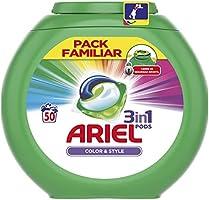 Ariel 3en1 Pods Detergente En Cápsulas, Color & Style, Limpieza Increíble, Limpia, Quita Manchas, Ilumina - 50 Lavados: Amazon.es: Salud y cuidado personal