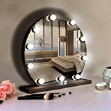 Hollywood Style LED Vanity Mirror Lights Kit with 10 Dimmable LED Bulbs, Flexible Strip for Makeup Mirror in Bedroom Dressing Room, Bathroom, White