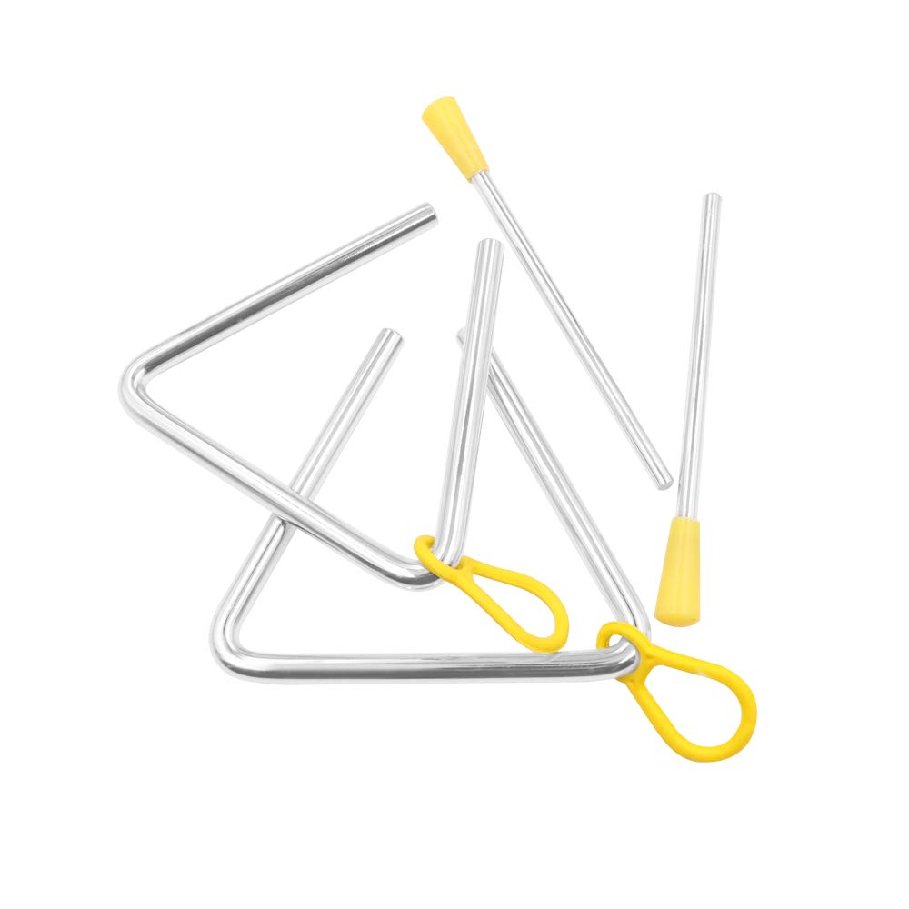 Elitee Hand Percussion 6 Inch Triangle Instrument with Striker, Pack of 2 by Elitee