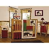 Trend Lab Northwoods 3 Piece Crib Bedding Set, Red/Tan
