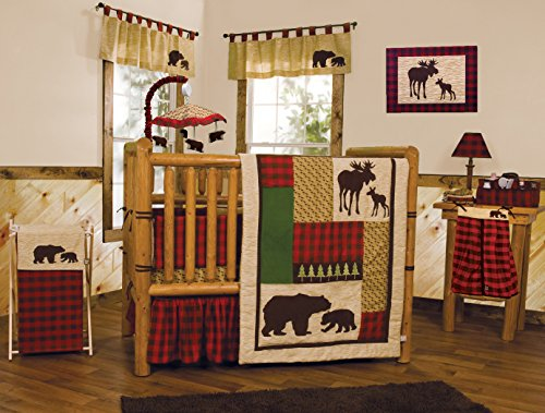 Bedding Crib Boy (Trend Lab Northwoods 3 Piece Crib Bedding Set, Red/Tan)