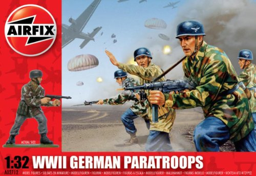 Airfix A02712 1:32 Scale German Paratroopers Figures Classic Kit Series 2