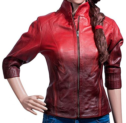 Cup Of Fashion Age Of Ultron Women Scarlet Olsen Two-Toned Witch Jacket ►Halloween Deal ◄ (Small, Synthetic Leather) -
