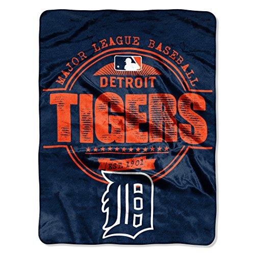 MLB Detroit Tigers Structure Micro Raschel Throw, 46