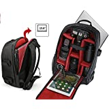 Camera Backpack Multifunction Waterproof Camera DSLR/SLR Bag Rucksack Laptop/Tablet Compartment with Tripod Strap for Canon, Nikon, Sony, Olympus, Samsung, Panasonic, Pentax Camera Accessories