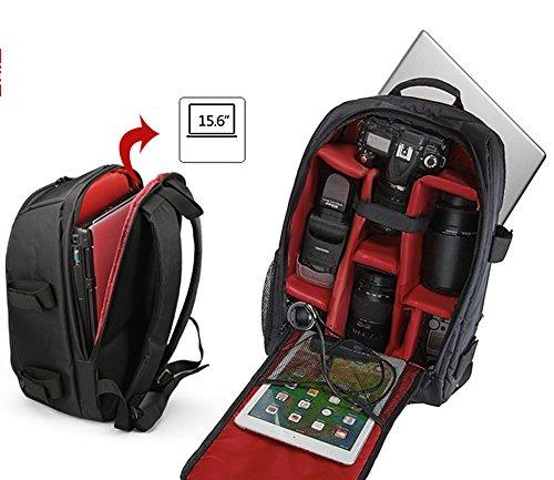 LUVODI Camera Backpack Multifunction Waterproof Camera DSLR/