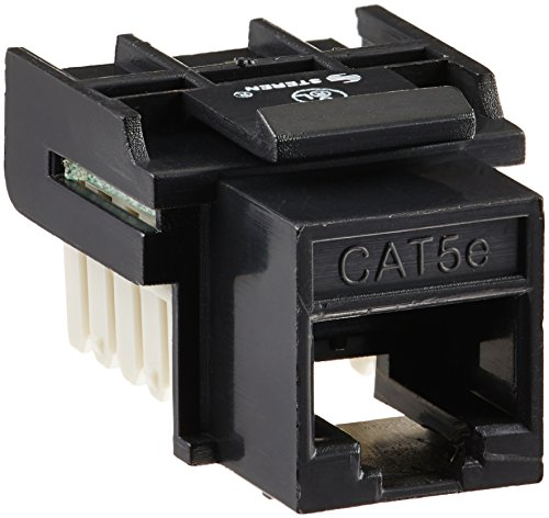 Cables Unlimited CAT5e Tool Less Keystone Jack Black