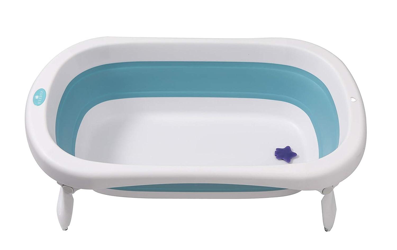 Glenmore Faltbare Babywanne Badewanne Faltbar Babybadewanne Zusammenklappbar Blau