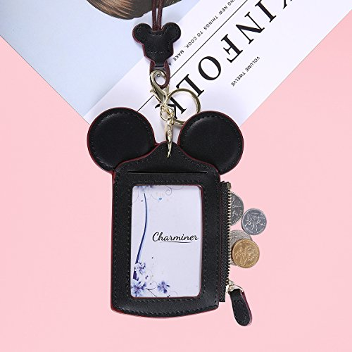 Neck Pouch, Charminer Card Holder Wallet Purse Neck Bag Travel Documents, Cute Animal Shape for Women Pink black by CHARMINER (Image #1)