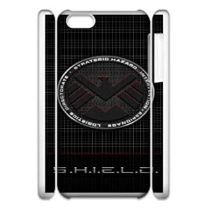 iphone6 Plus 5.5 3D Cell Phone Case White s.h.i.e.l.d Plastic Durable Cover Cases swxc5077942