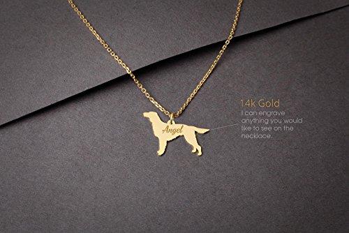14K GOLD Personalised IRISH SETTER Necklace - Irish Setter Name Jewelry - Gold Necklace- Dog Jewelry - Dog breed Necklace - Dog ()