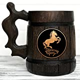 Prancing Pony Mug. Lord of the Rings Gift. The Prancing Pony Wooden Hobbit Mug. Frodo Prancing Pony Pub Inspired Tankard. Beer Mug. LOTR Gift. Beer Tankard Wooden Stein #75/0.6L / 22 ounces