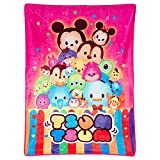 TSUM Disney and Friends, Pink Plush Silky Touch Blanket,46'X60'