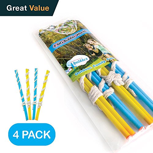 4 Big Bubble Wands: Making Giant Bubbles. Great birthday activity and party favor. Giant Bubble Solution Not Included. -