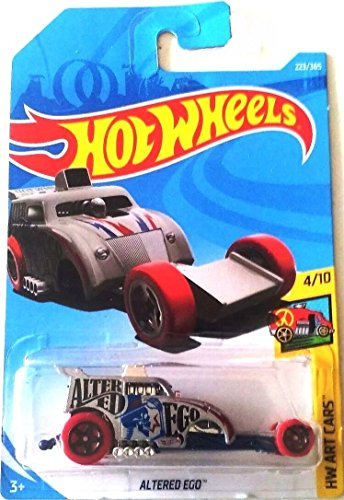 Hot Wheels 2018 50th Anniversary HW Art Cars Altered Ego 223/365, Silver