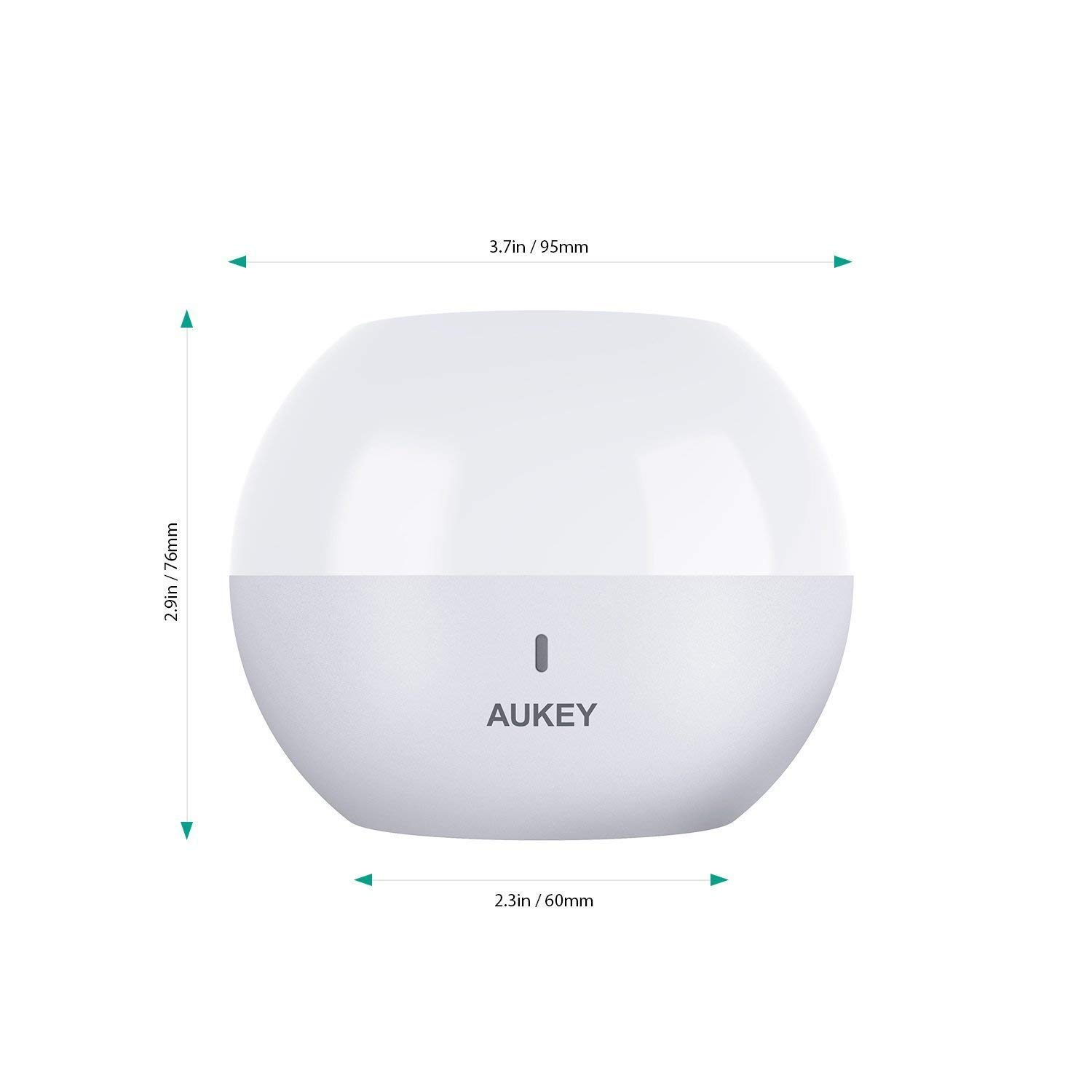 Rechargeable Bedside Lamp with RGB Color-Changing /& Dimmable Bedroom Light and Relaxing AUKEY Night Light Touch Control Table Lamp for Reading Sleeping IP65 Water-Resistance /& Drop-Resistance