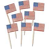 Pkgd U S Flag Picks   (50/Pkg)