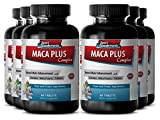 Asian ginseng and ginkgo - Maca Plus Complex - Energy boost (6 Bottles - 360 Tablets)
