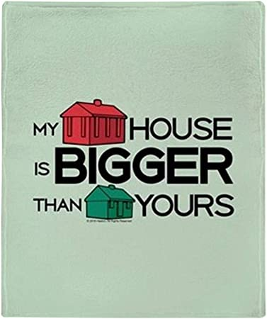 CafePress Monopoly – Manta de My House is Bigger: Amazon.es: Hogar