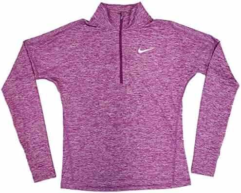 3cdb259343f15b Nike Dry Women's Dri-Fit 1/2 Zip Running Pullover Purple AJ4660 513
