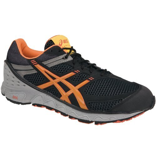 ASICS Men Gel Achira/t130 N 9067 couleur : Black/Orange/Fire Red