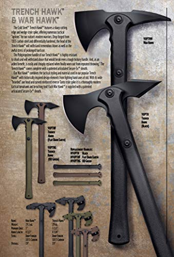Cold Steel Drop Forged Tomahawk Survival Hatchet - Great for Camping