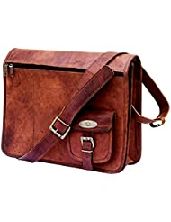 Handmade_world Leather Messenger Bags 15 Inch For Men Women Mens Briefcase Laptop Computer Shoulder Satchel School...