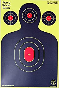 """12"""" X 18"""" Silhouette Splatter Spots Targets 10, 25, 50 100 Packs See Your Hits Instantly"""