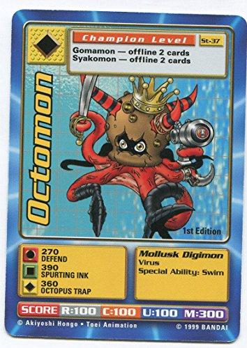 - Digimon Card - Octomon St-37 - 1st Edition