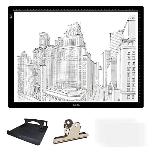 l Length) LED Artcraft Tracing Stencil Light Box Adjustable Brightness Light Pad Copy Board Table USB Powered with Multifunction Holder LA3H (23.5 Inch Art)